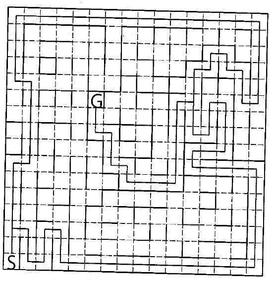 マイクロマウス競技迷路(北回り 63歩22折,南回り61歩24折)