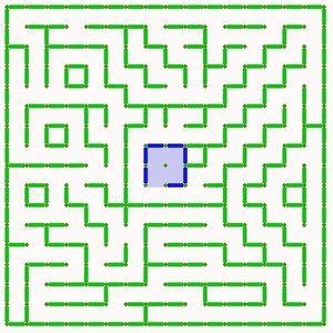 クラシック競技・ハーフ競技共通迷路。 西回り60歩26折 南回り58歩36折